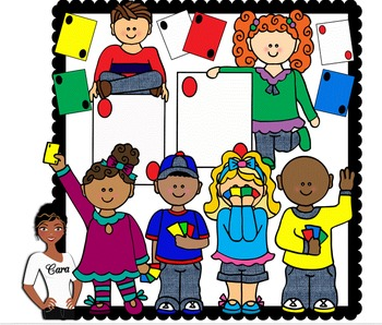 Clip Art~ Kids Playing Cards ~ Go Fish / UNO.