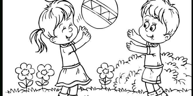 28+ Collection Of Kids Play Clipart Black And White.