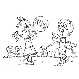 Kids playing black and white clipart images gallery for free.