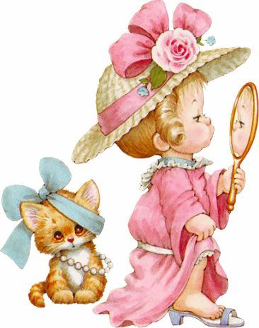 Image result for little girl playing dress up clipart.