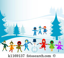 Kids playing snow Illustrations and Clipart. 279 kids playing snow.