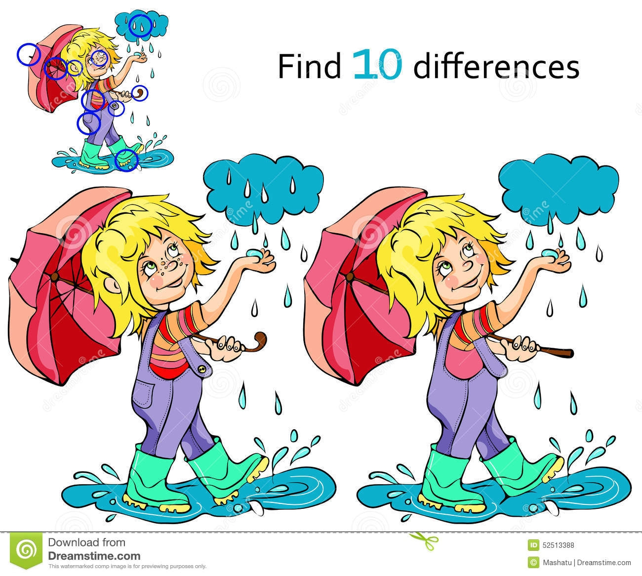 Playing Football in the Rain Clip Art.