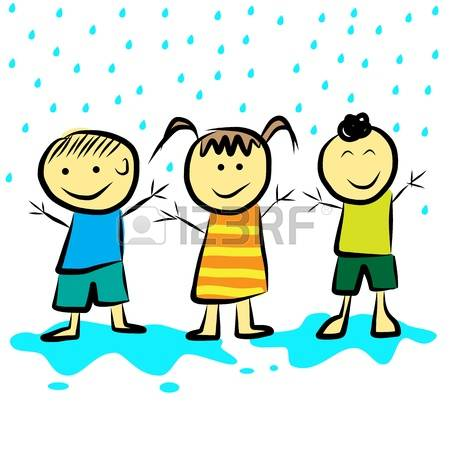 347 Playing In The Rain Stock Vector Illustration And Royalty Free.