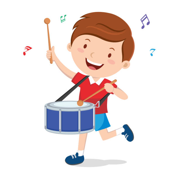 Best Kids Playing Instruments Illustrations, Royalty.