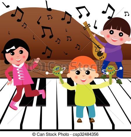 Kids playing music.