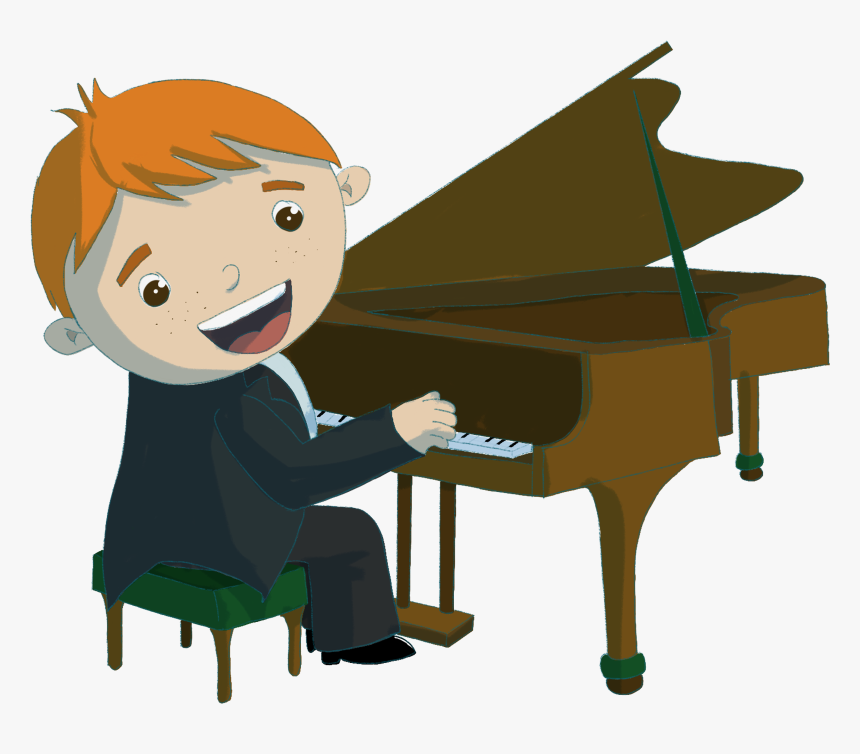 Boy Playing Piano Clipart, HD Png Download , Transparent Png.