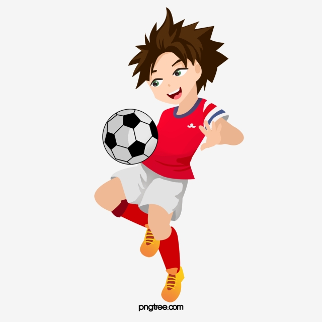 Play Soccer Kids, Soccer Clipart, Kids Clipart, Football PNG Image.
