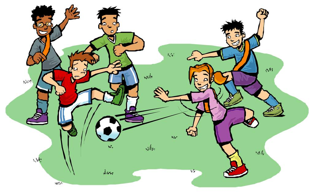 Kids Playing Sports Clipart Player Football Free Kid.