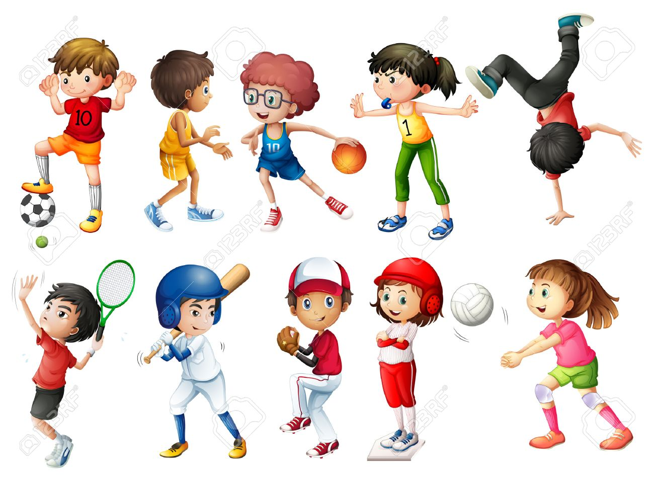 Kids playing sports clipart 1 » Clipart Station.