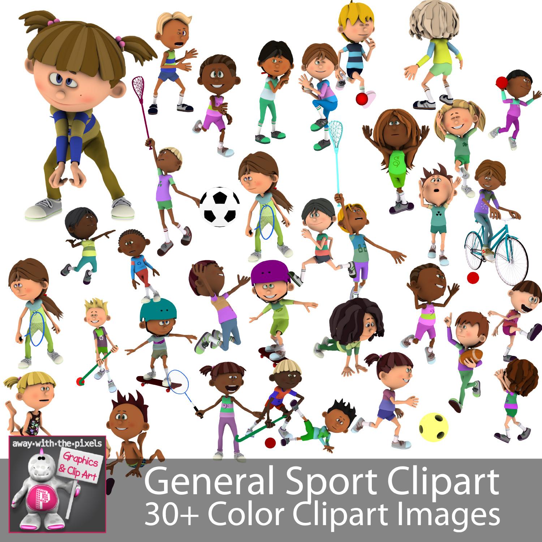 General Sport Kids Sports Clipart For Teachers.