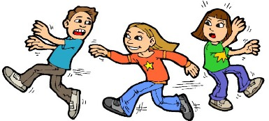 Children Playing Tag Clipart.
