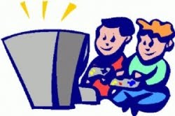clip art and picture: Clipart of Kids Playing Video Games.