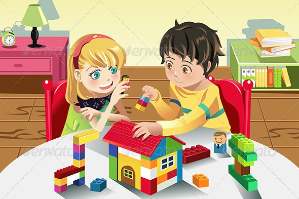 Boy Playing Legos Clipart#1881369.