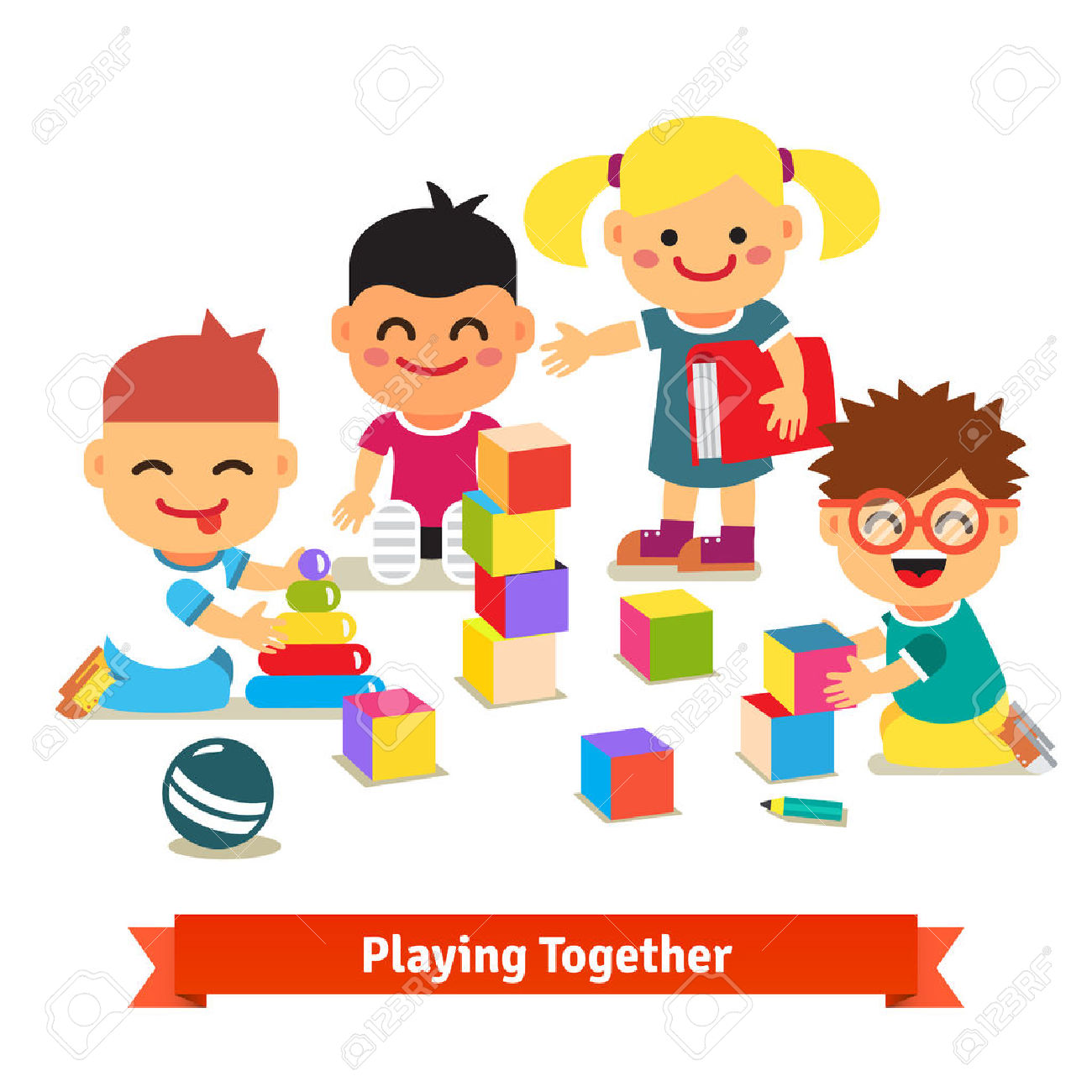 kids playing with toys clipart clipground