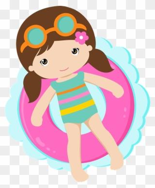 Free PNG Kids In Pool Clip Art Download.