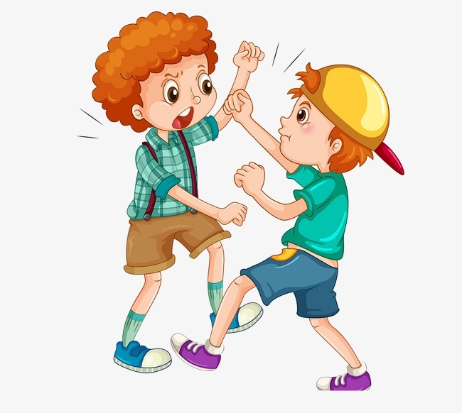 Kids Kicking Each Other Clipart.