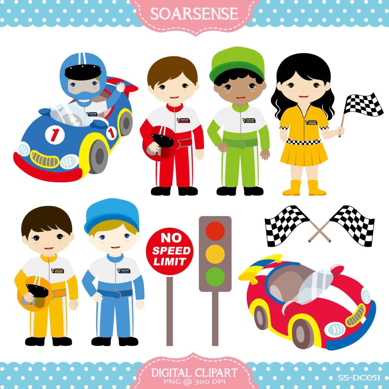 Kids Race Car Clipart.