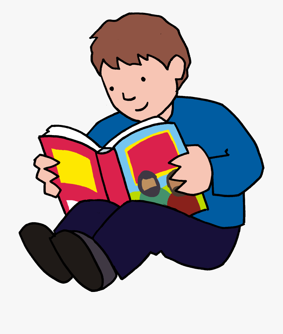 Reading Bible Clipart.