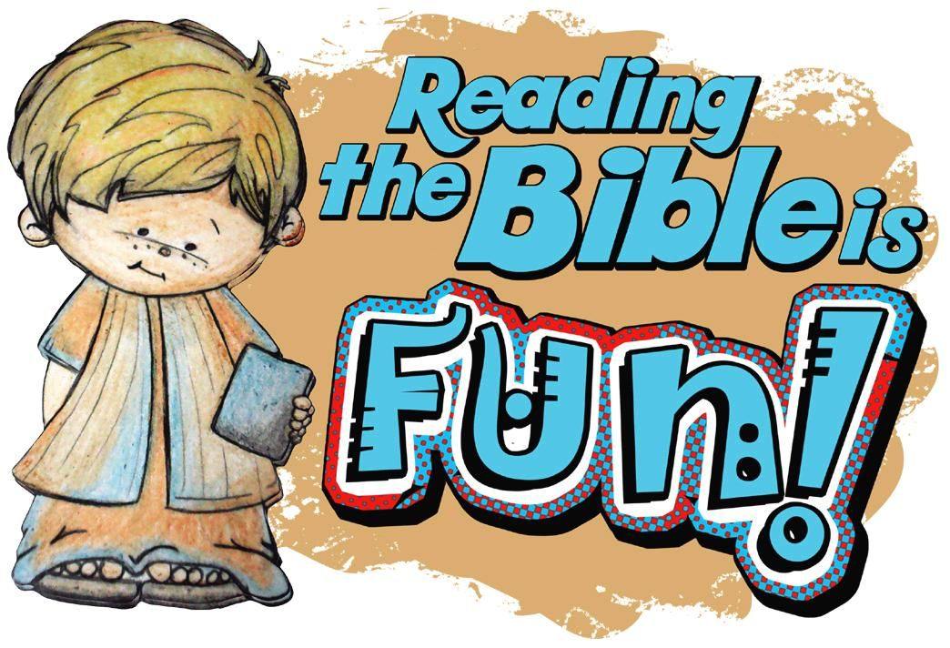Reading the Bible is Fun clipart from Lessons4SundaySchool.com.