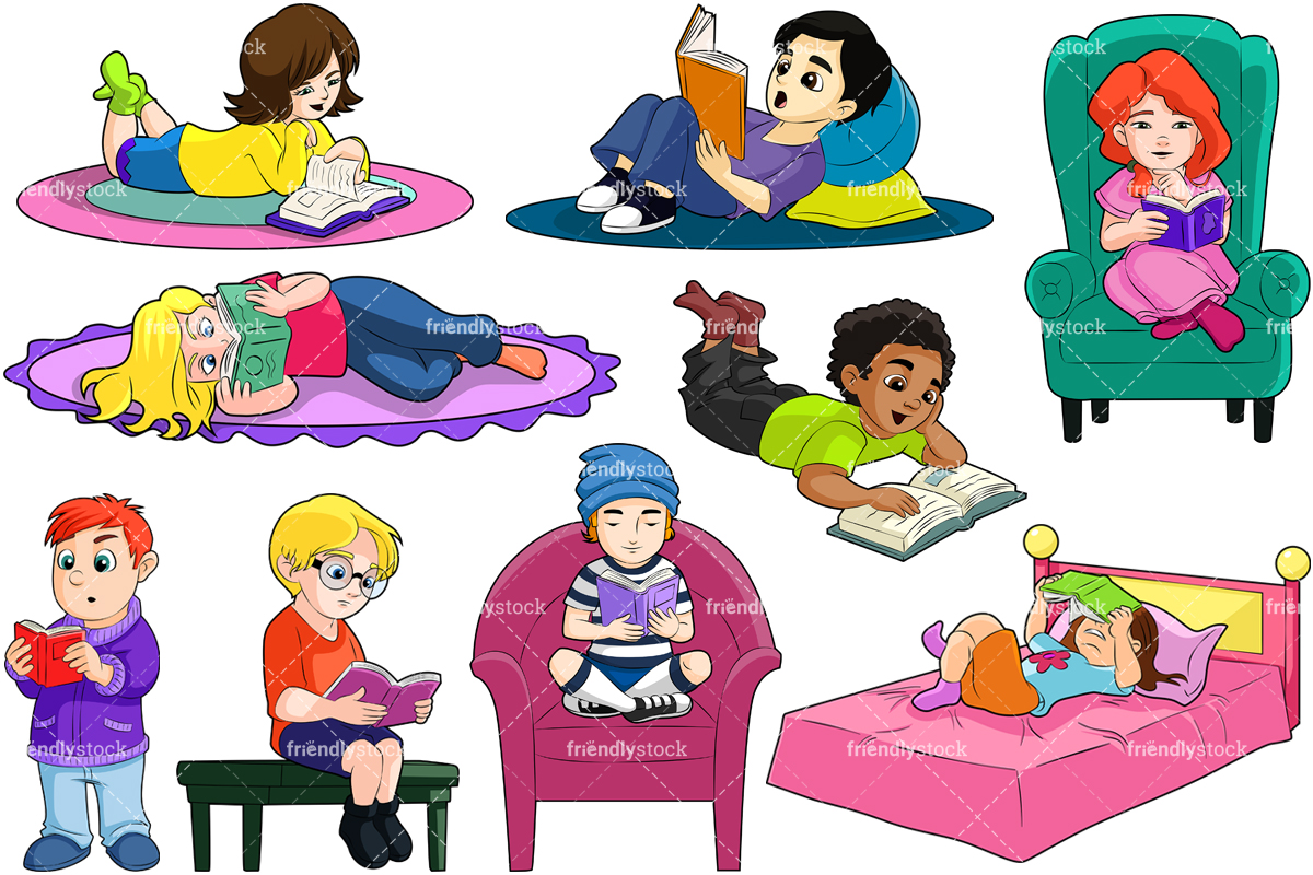 Kids Reading Books Collection.