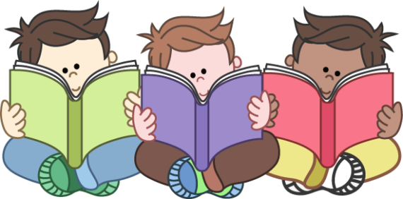 Free Clip art of Kids Reading Clipart #4721 Best Children Reading.