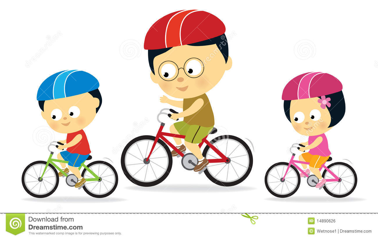 Kids Riding Bikes Clipart Clipart Panda Free Clipart Images.