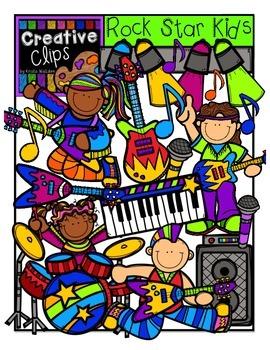 Rock Star Kids {Creative Clips Digital Clipart}.
