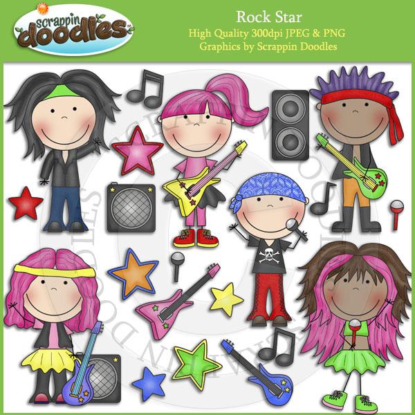 Kid Rockstar Clipart.