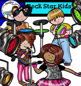 Rock Star Kids clip art.