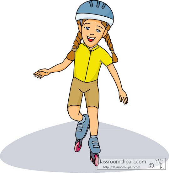 1374 Skating free clipart.