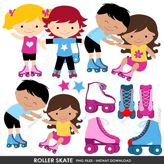 Roller Skating Clipart, Skating Party Clip Art, Roller Skate.