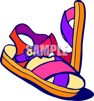 211 Sandals free clipart.