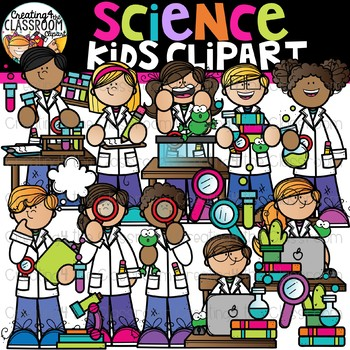 Science Kids Clipart {Science Clipart}.