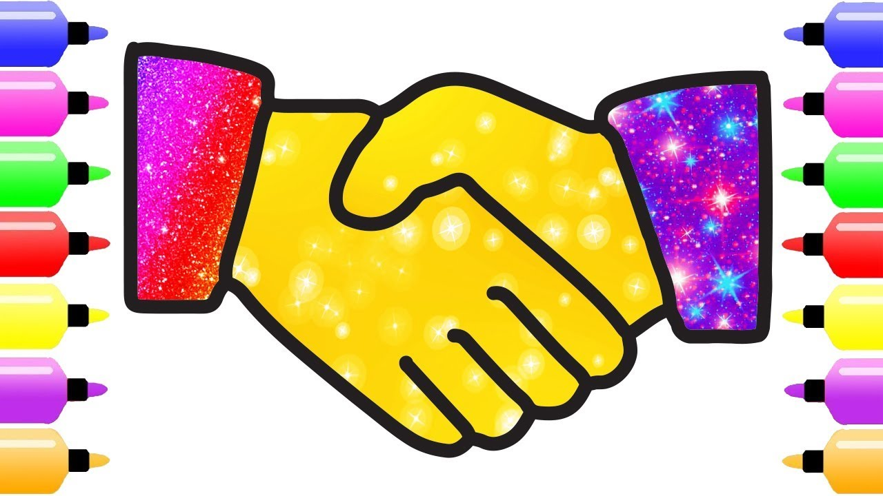 Handshake clipart colorful, Handshake colorful Transparent.