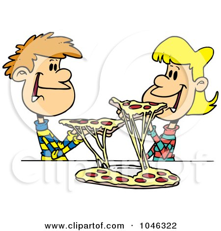 Gallery For > Sharing Food Clipart Black.