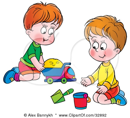 Sharing Toys Clipart#1920221.