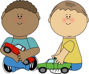Boy Not Sharing Toys Clipart.