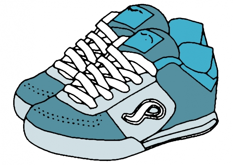 Kids Running Shoes Clipart » Clipart Station.