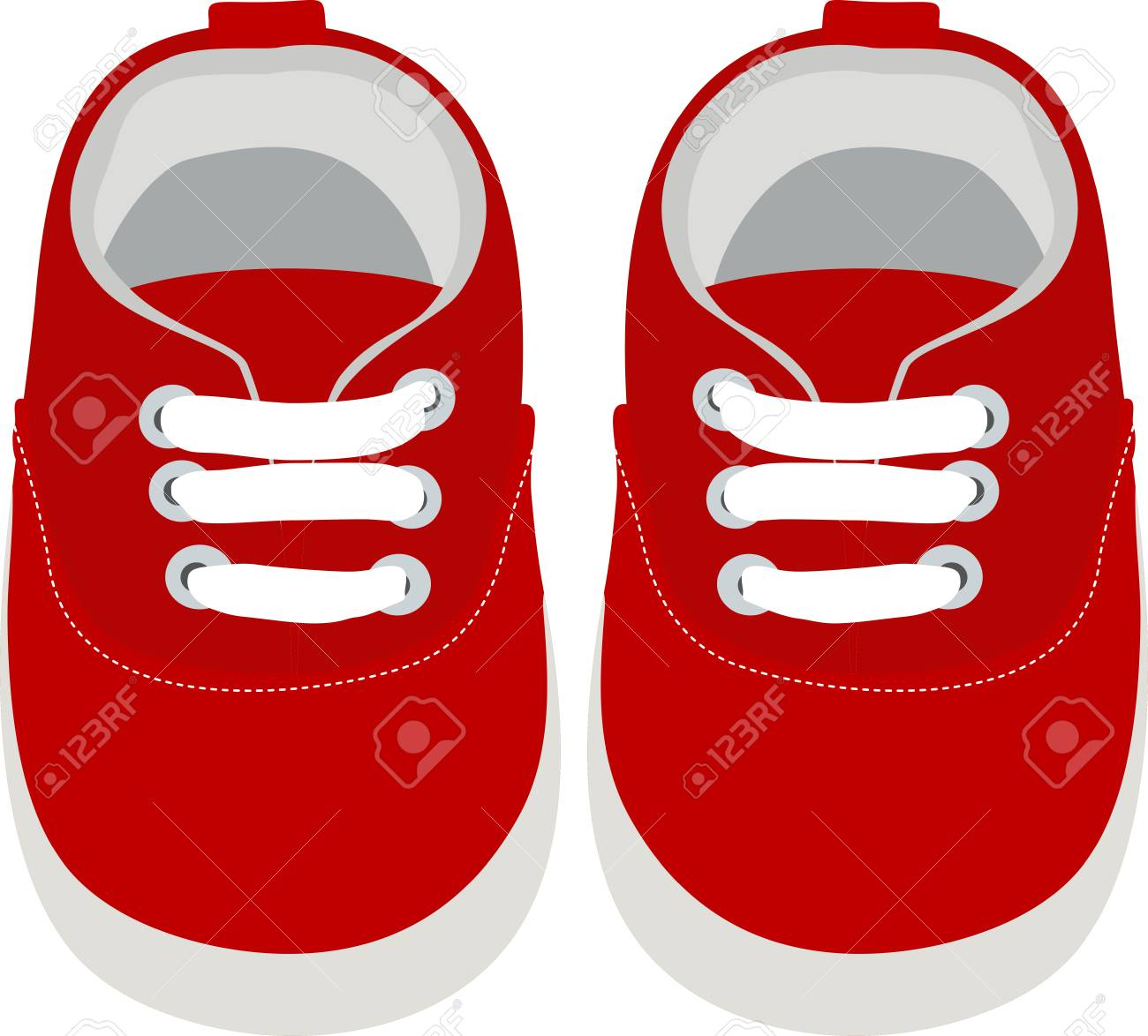 Kids Shoes. Simple Vector Illustration..