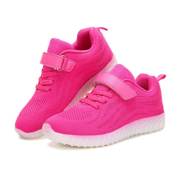 Kids Light Up LED Sport Shoes Girls Boys Mesh sneakers Flash Shoes.