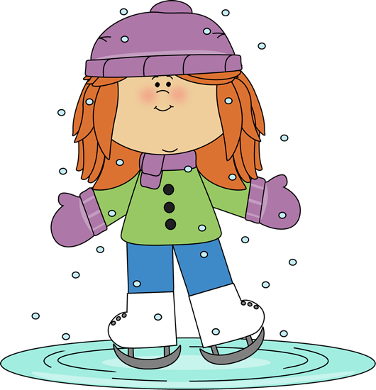 Girl ice skating..