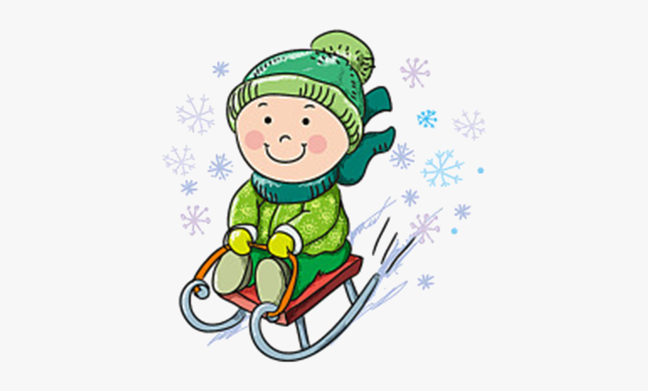 Kids Skiing Clipart.