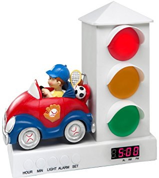 Amazon.com: Stoplight Sleep Enhancing Alarm Clock for Kids, Red.