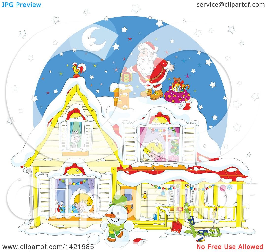 kids sleeping on christmas clipart - Clipground