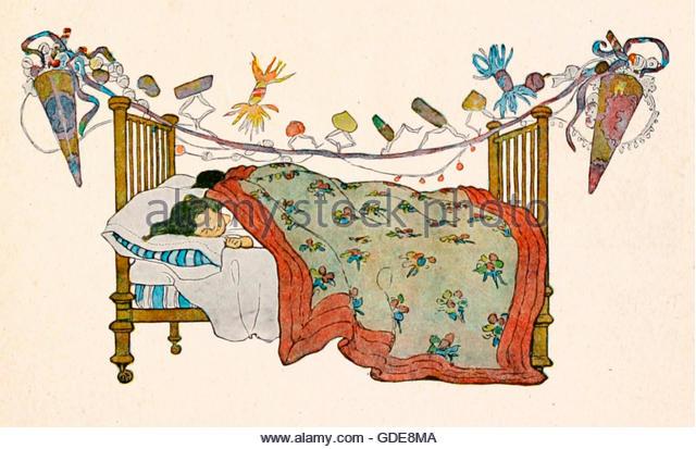 Children Sleeping On Christmas Eve Stock Photos & Children.
