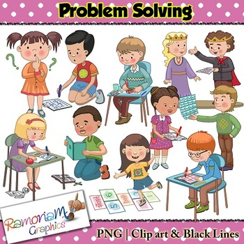 kids solving problems clipart clipground