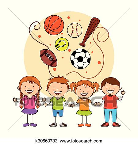 Kids sports Clipart.