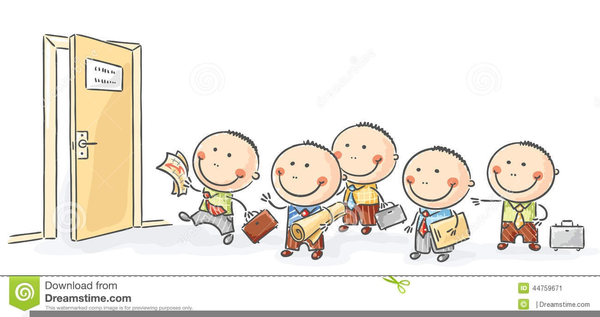 Children Standing In Line Clipart.