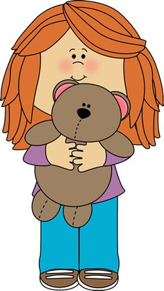 Kid With Stuffed Animal Clipart.