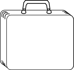 Suitcase outline clipart.